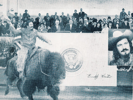 Late Rodeo Clown Rode A Bison