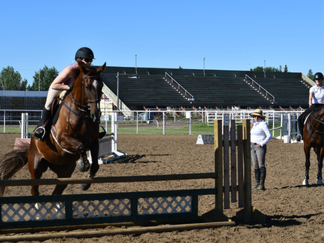 Jumping Clinic Held At The Ag Grounds