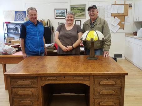 Old Oak Desk Donated To Vermilion Museum