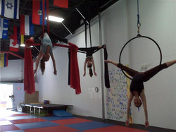 teen fabrics and aerial hoop