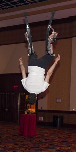 Acrobatic Jumping Stilt performers