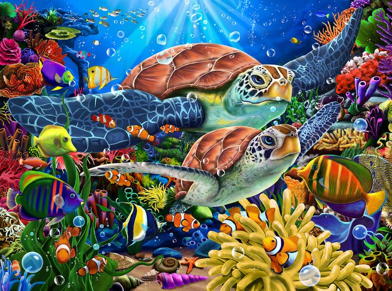 Turtles Ocean Paradis