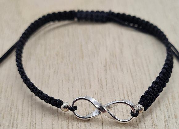 Infinity silk bracelet