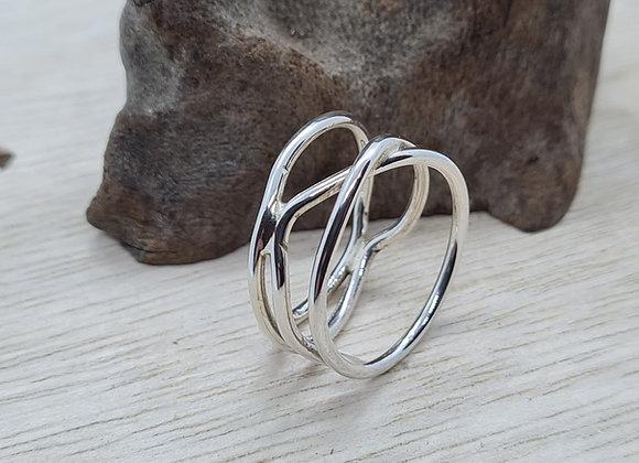 Sterling silver birds nest ring