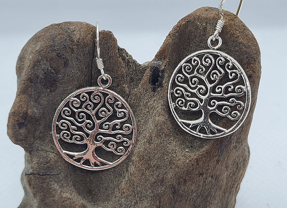 Tree of Life curly drop earrings