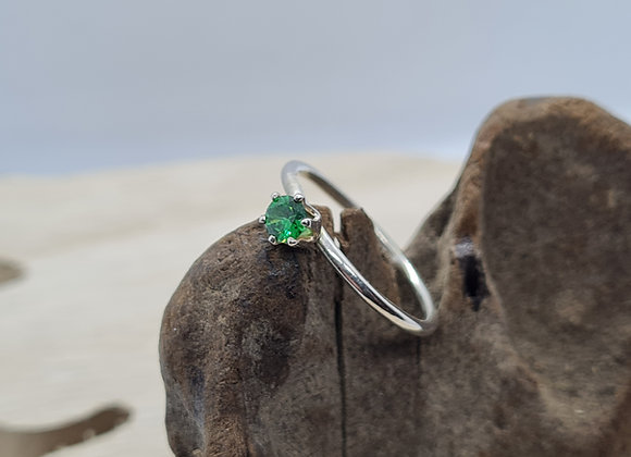 3mm CZ solitaire ring
