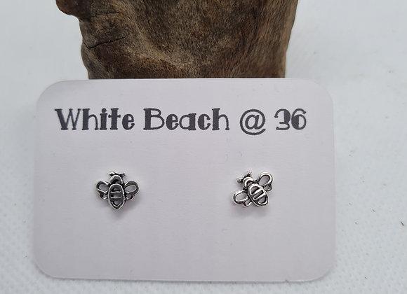 Cute sterling silver Bee earring studs