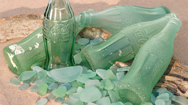 Broken Coke bottle glass