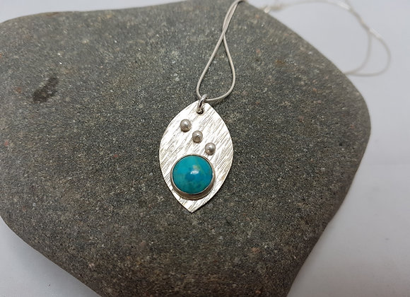 Sterling silver oval necklace