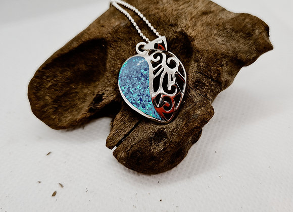 large opal heart