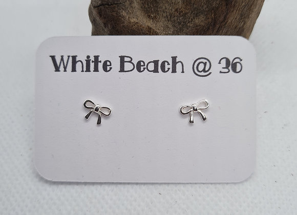 Cute Bow Studs in sterling silver