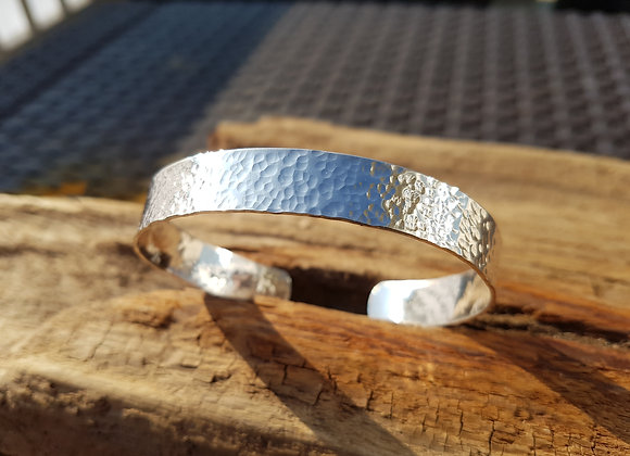 Sterling silver open cuff bangle