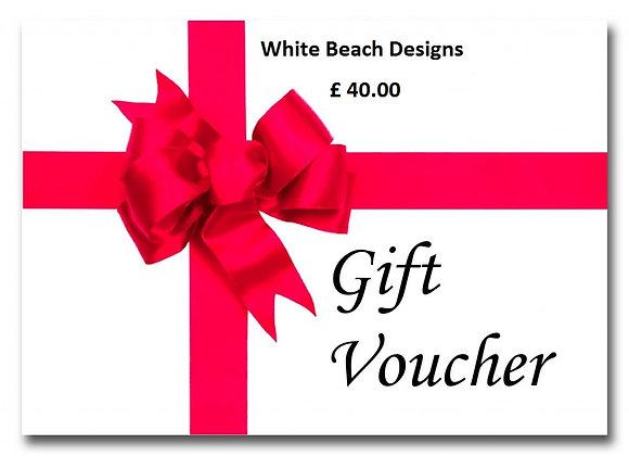 £ 40.00 gift voucher