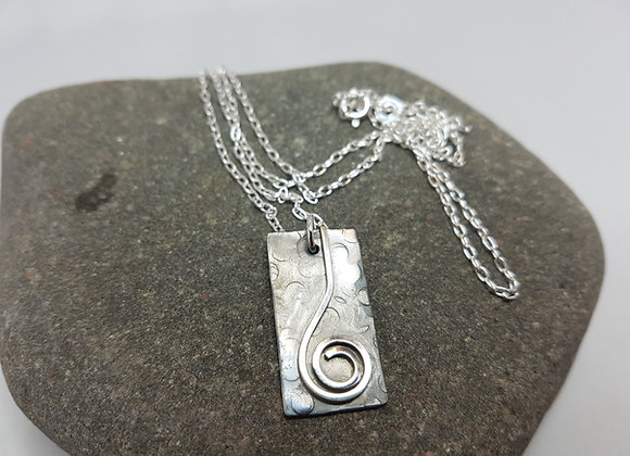 Sterling silver oxidised necklace
