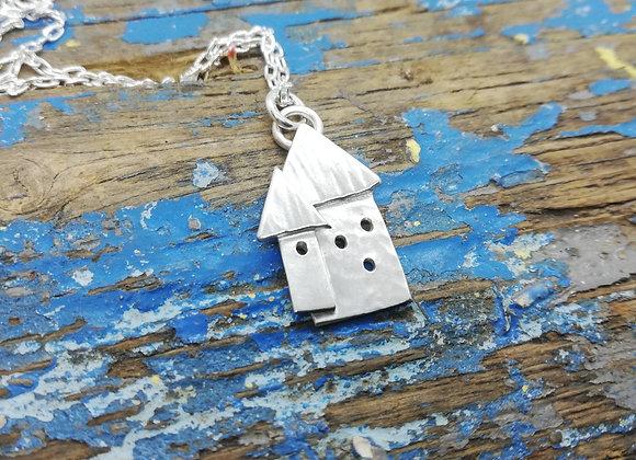 Wonky house pendant
