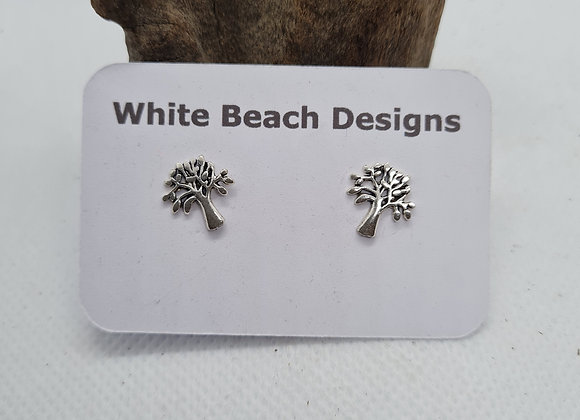 Sterling silver open Tree of Life stud earrings