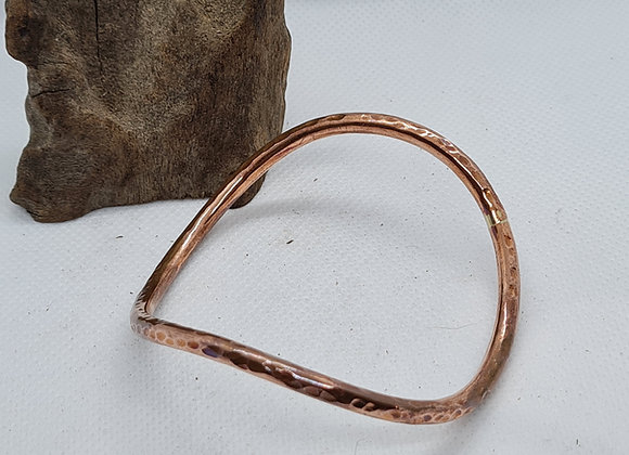 heavy curved bangle copper