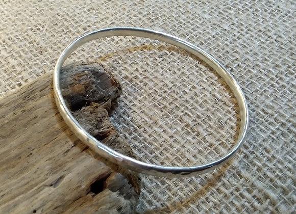 handmade sterling silver heavy bangle