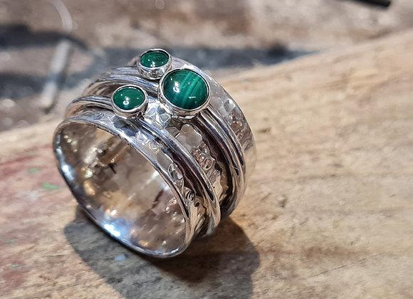 Triple spinner ring
