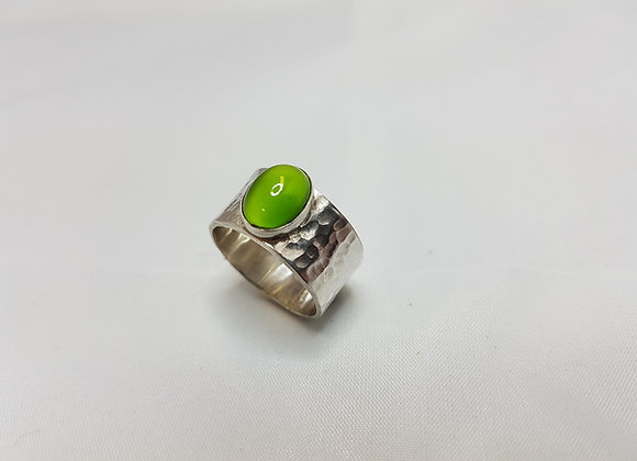 Sterling silver ring with stone
