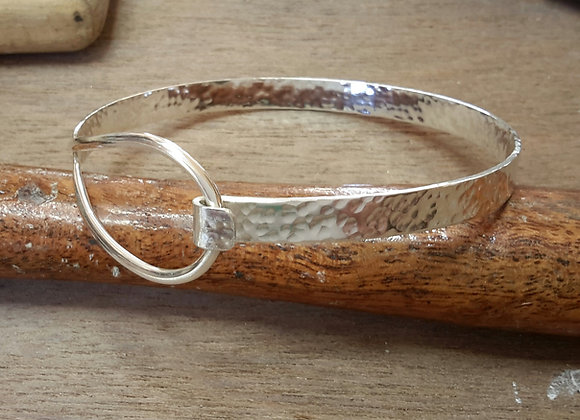 Hand made sterling silver bangle