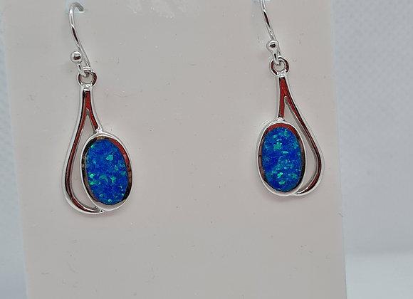 Opal swirl drop earrings