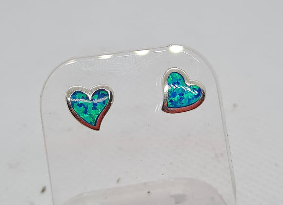 Abstract heart opal stud