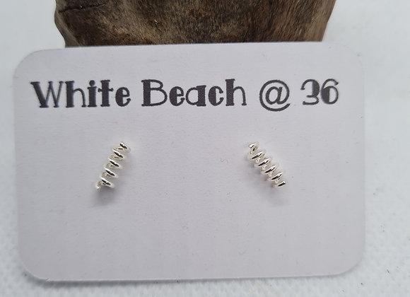 Sterling silver Spring stud earrings