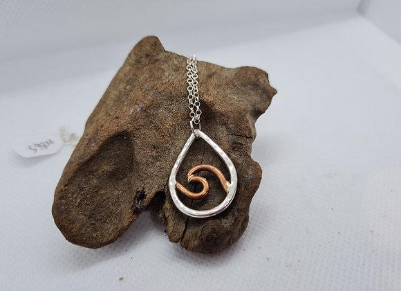 Open copper wave necklace