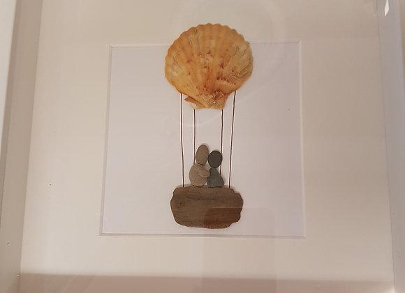 Ballooning pebble art