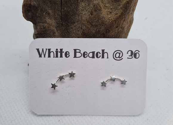 Sterling silver Star ear climber studs