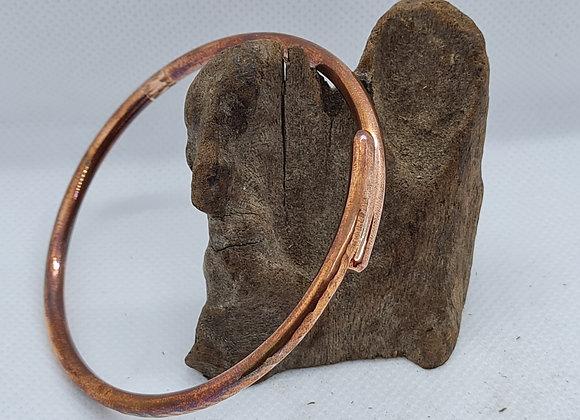 copper overlap bangle