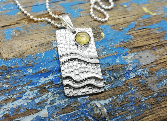 Waves and sun pendant