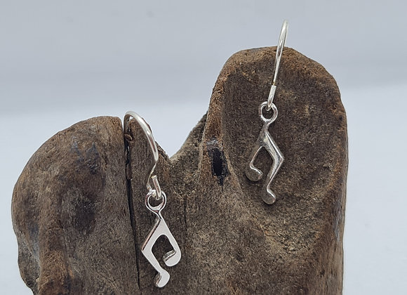 Cute music note drop earrings