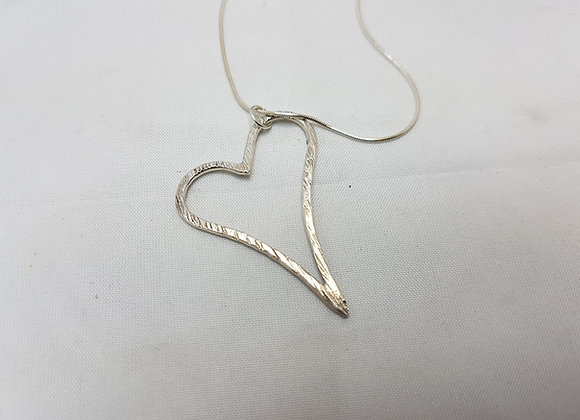 Sterling silver abstract heart