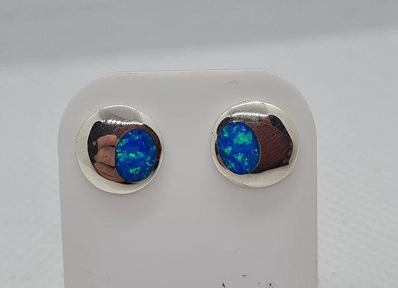 offset opal studs