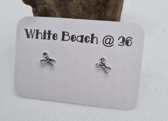 Sterling silver Scissor studs earrings