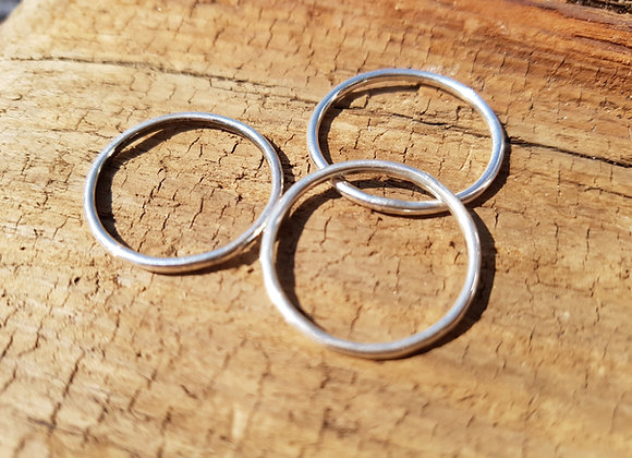 Sterling silver stacker rings