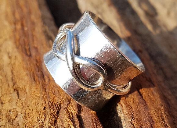 Stering silver spinner ring