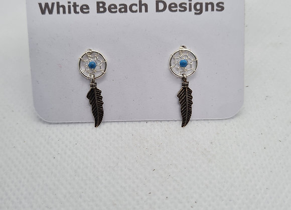 Sterling silver Dream catcher stud earrings