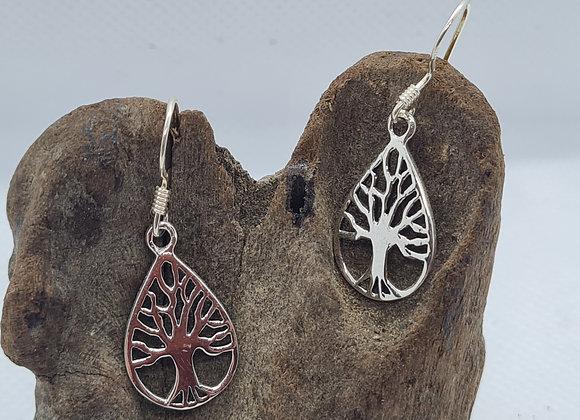 Teardrop Tree of Life earrings