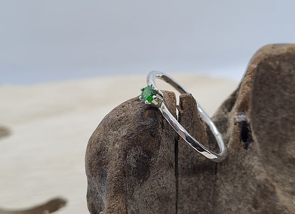 2mm CZ Solitaire ring