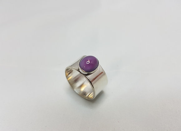sterling silver ring with amathyst stone