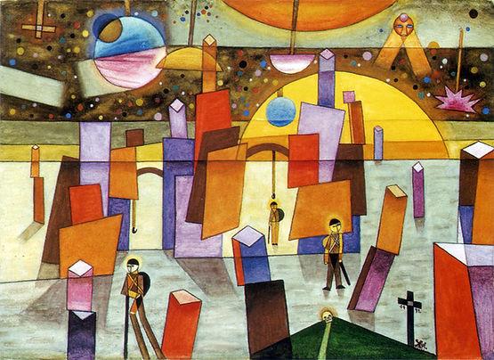 """Xul Solar """"Palacios en Bría"""" - 1932"""