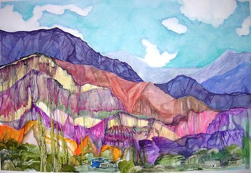 Los siete colores, acuarela de E. Pacheco