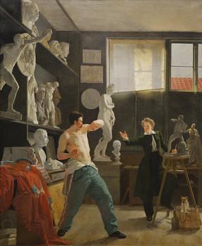 Wilhelm Bendz, A Sculptor in his Studio