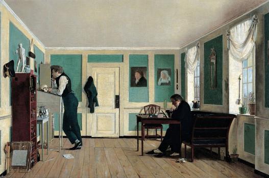"""Wilhelm Bendz's """"Interior From Amaliegad"""