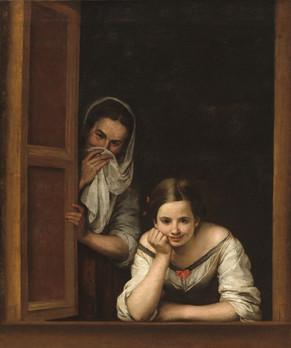 Mujeres en la ventana-bartolomé_esteban_