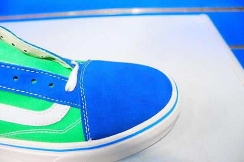 Vans Anaheim Old Skool 36 DX trainer in green/blue