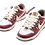 Thumbnail: Dior x Nike SB Dunk Low Burgundy White With Brass Linkage Hardware